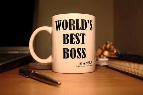 """Tasse mit Aufschrift """"World's Best Boss"""""""