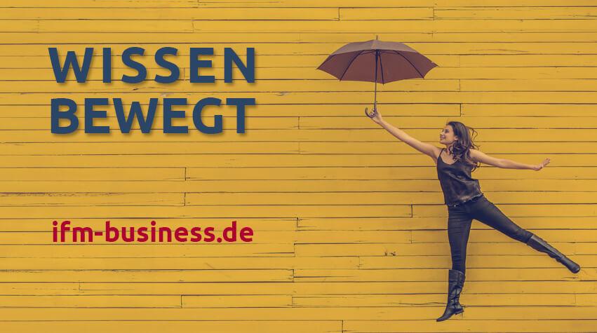 Wissen Bewegt - Motto und Internetadresse des IFM