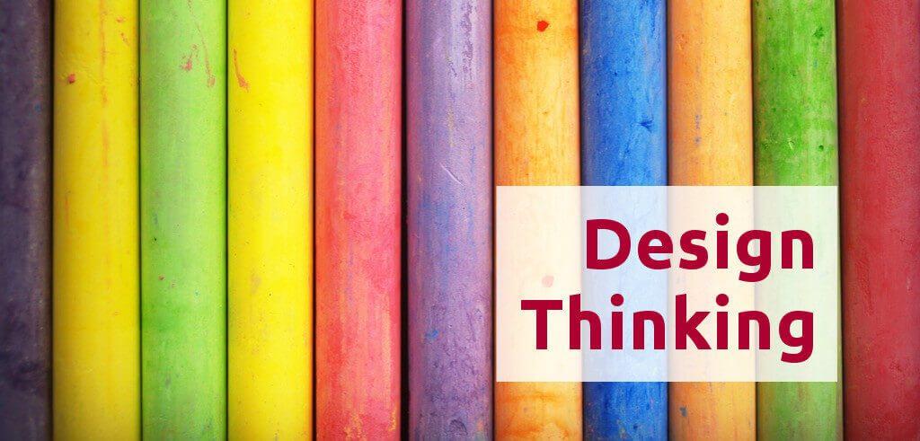 Teaser mit bunten Farben für den Wissensbrunch Design Thinking beim IFM am 27.04.2017