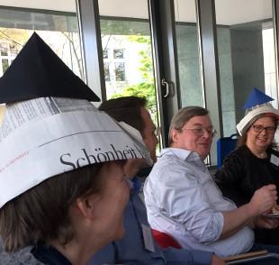 Glückliche Teilnehmer beim IFM-Wissensbrunch