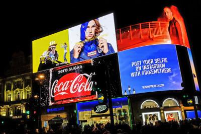 Londoner Picaddily Circus als Beispiel für Marketing