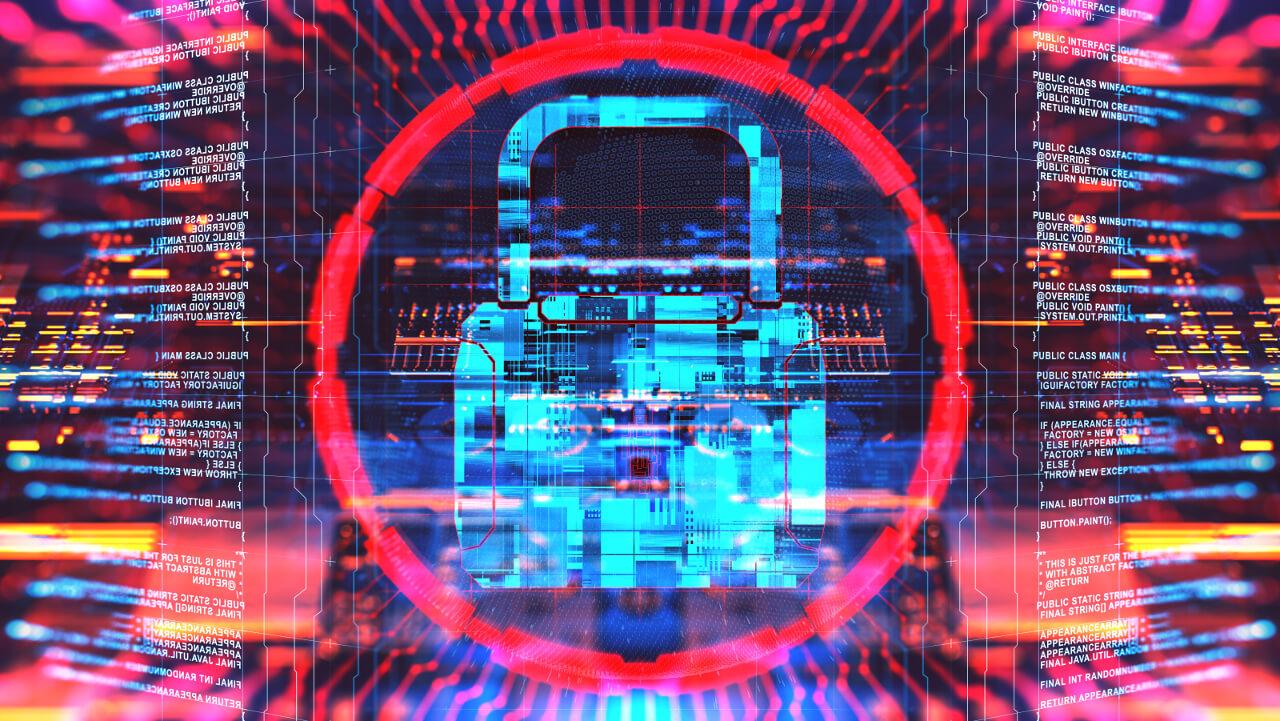 Digitale Grafik, die Datenschutz mit einem Schloss darstellt