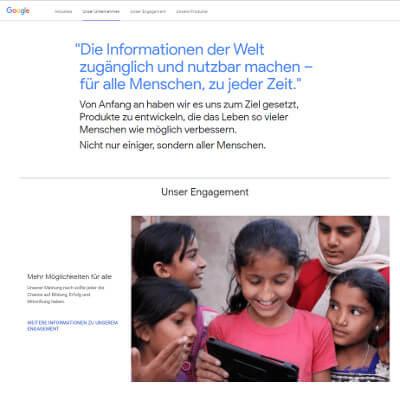 Wie Google sich als ethischer Arbeitgeber vermarktet