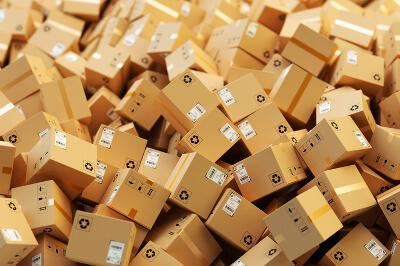 Ein Haufen von Paketen