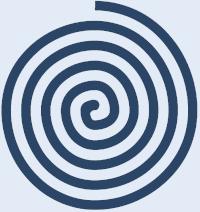 Eine blaue Spirale