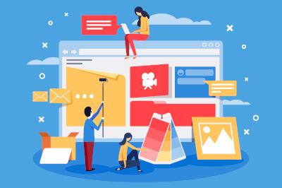 Erstellen und Gestalten von Webseiten mit Webdesignern