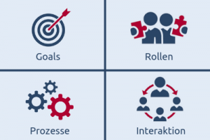 Das GRPI-Modell mit Goals, Rollen, Prozessen und Interaktion