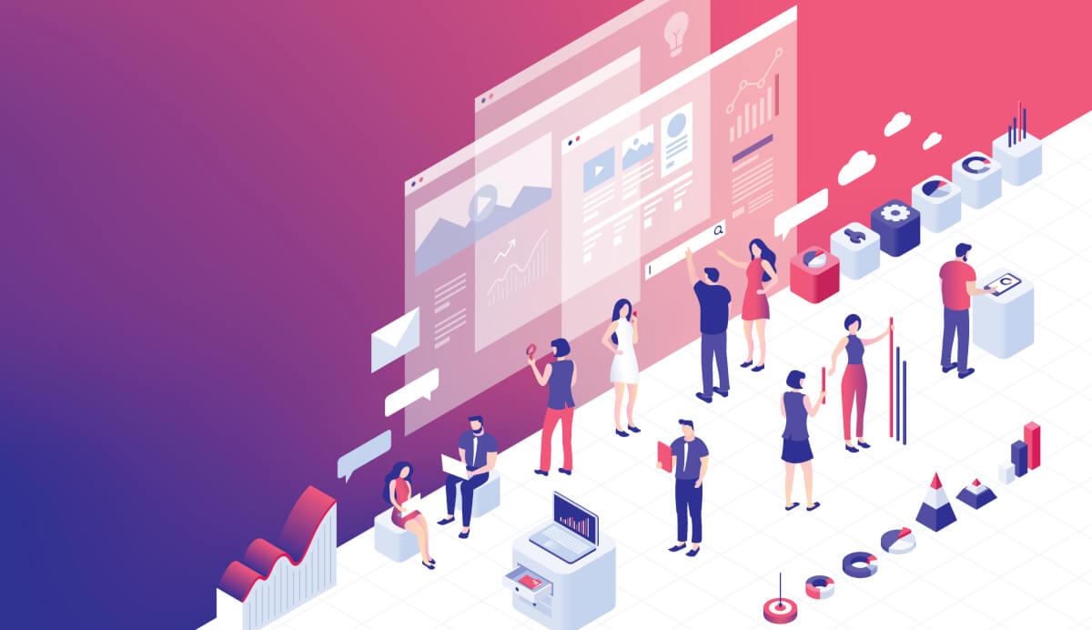 Arbeitsplatz der Zukunft mit digitalen Arbeitsmitteln