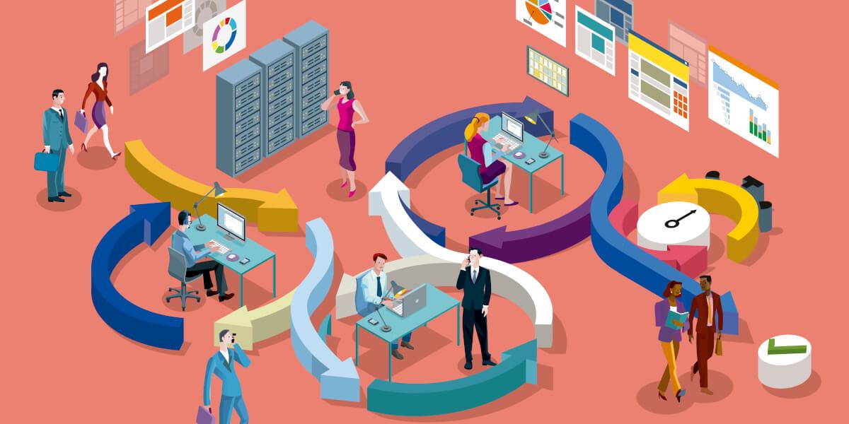 Blick auf die agilen Prozesse in einem Business