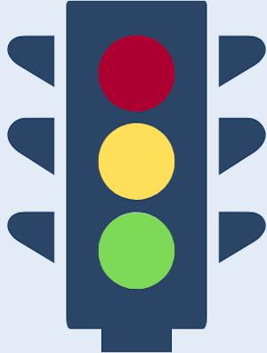 Grafik einer Ampel