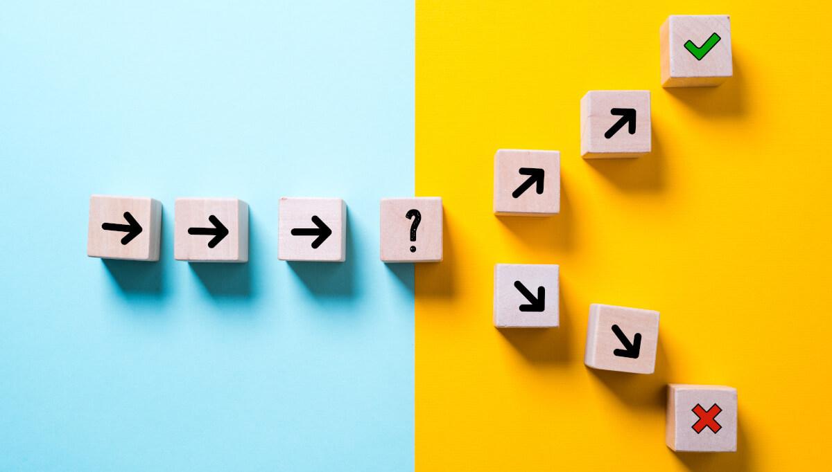 Welchen Weg gehen? Die richtige Entscheidung für die Zukunft wählen