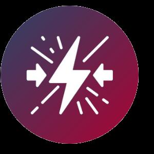 Grafik: Blitz mit Pfeilen, die von außen auf ihn zeigen