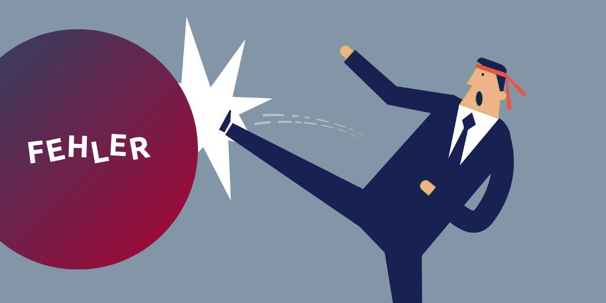 Six-Sigma-Projektmanager bekämpft einen Fehler im Unternehmen