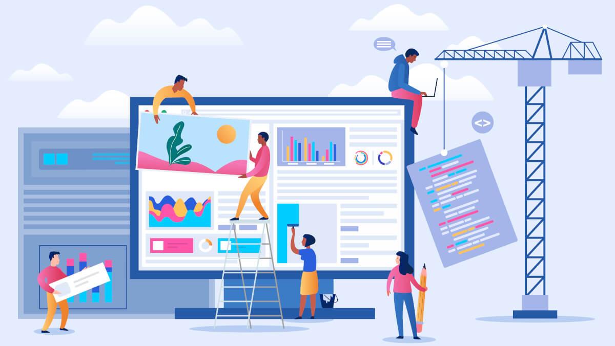 Content Creator bauen mit verschiedenen Marketing-Maßnahmen eine Website auf