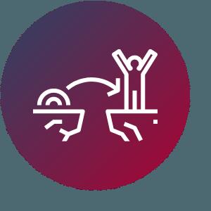 Agile Coach springt über eine Klippe - so klappt Change Management