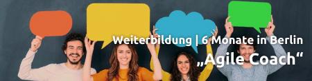 Teaser für die Weiterbildung Agile Coach in Berlin über 6 Monate