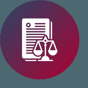 Grafik zeigt Gesetzestext und Waage der Justitia