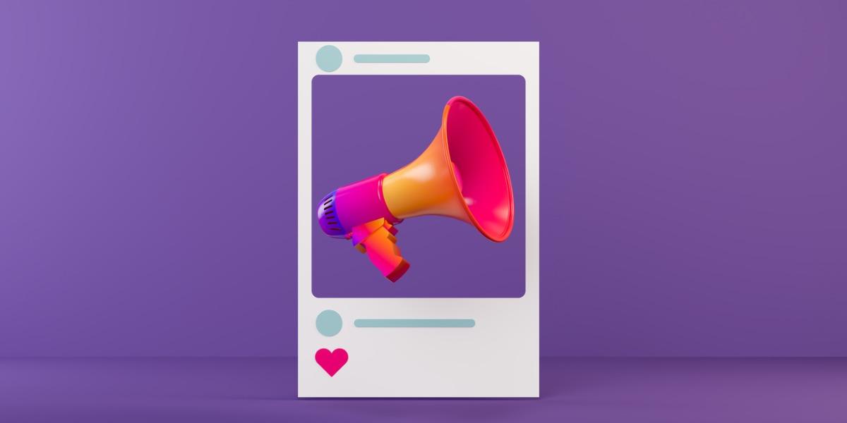 Buntes Megafon in den sozialen Medien, zeigt wie Employer Branding funktioniert